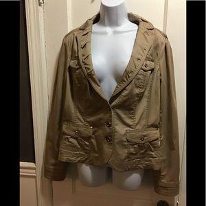 NWT White House Black Market Pleated Lapel Jacket